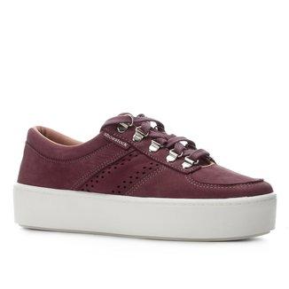 Tênis Couro Shoestock Ilhós Caixa Alta Feminino