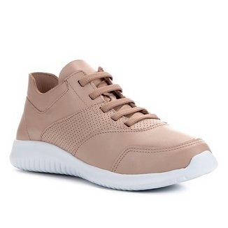 Tênis Couro Shoestock Jogging Confort Feminino