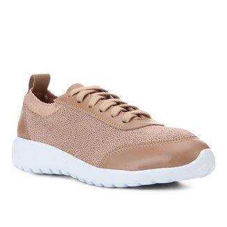 Tênis Couro Shoestock Knit Feminino
