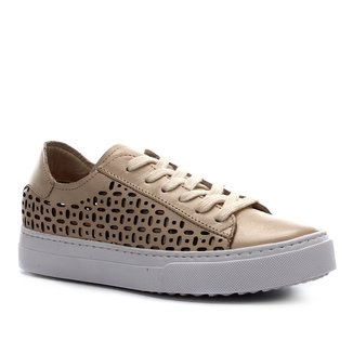 Tênis Couro Shoestock Laser Basic Feminino