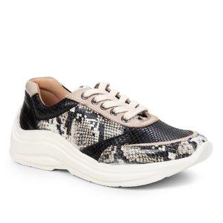 Tênis Couro Shoestock Mix Estampas Feminino