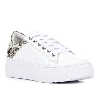 Tênis Couro Shoestock Mix Feminino