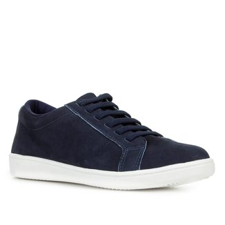 Tênis Couro Shoestock Nobuck Comfort Feminino