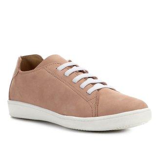 Tênis Couro Shoestock Nobuck Confort Elástico Feminino