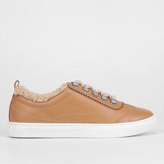 Tênis Couro Shoestock Pelúcia Feminino