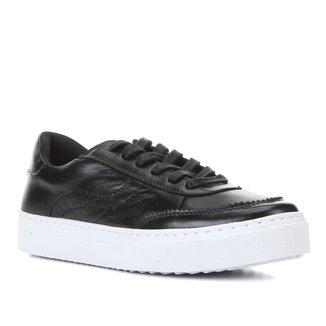 Tênis Couro Shoestock Pespontos Feminino