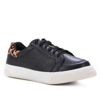 Tênis Couro Shoestock Rebite Cristal Feminino