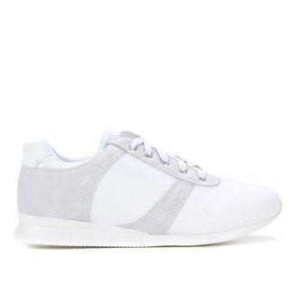 Tênis Couro Shoestock Recortes Feminino