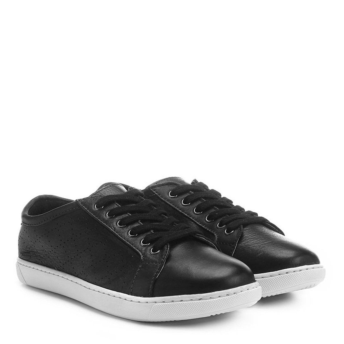f952ceb1d Tênis Couro Shoestock Vazado Feminino - Compre Agora