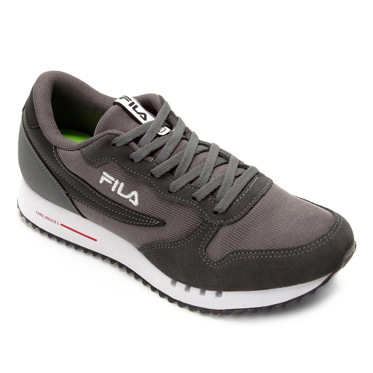 bf2482e1ad Tênis Fila Euro Jogger Sport Masculino - Preto e Vermelho | Shoestock