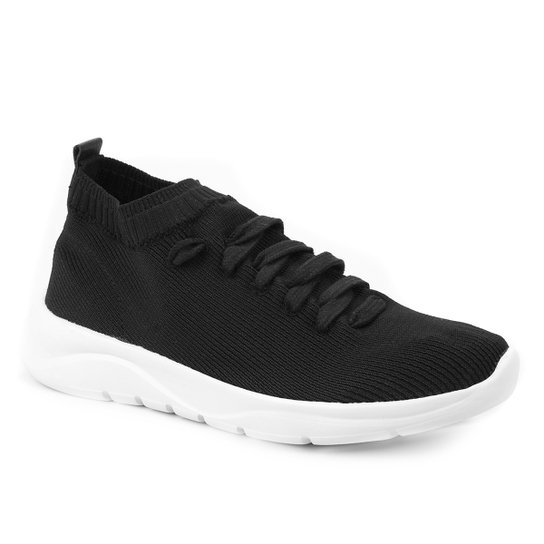 Tênis Shoestock Comfy Tricot Feminino - Preto