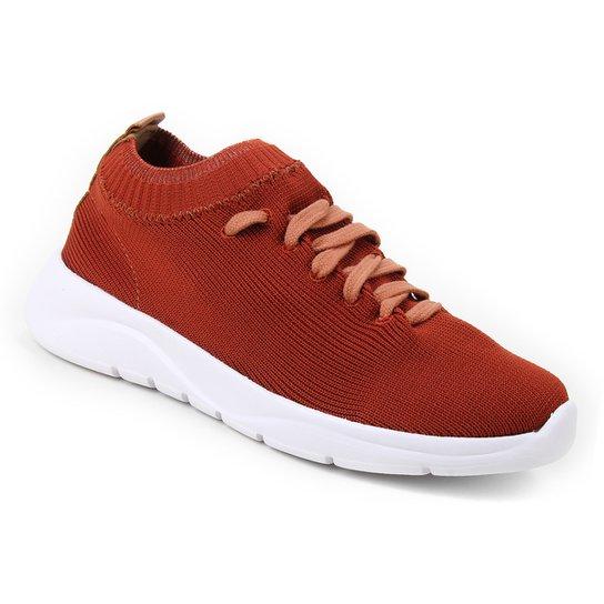 Tênis Shoestock Comfy Tricot Feminino - Marrom
