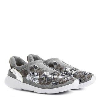 Tênis Shoestock Jogging Bordado Floral