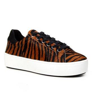 Tênis Shoestock Pelo Zebra Amarrar