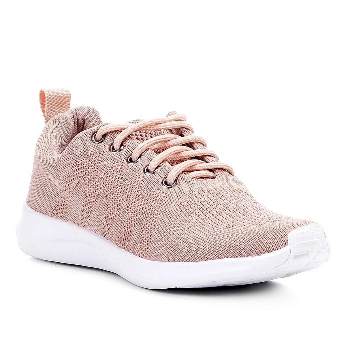 417b26305b Tênis Shoestock Tricô Feminino - Rosa