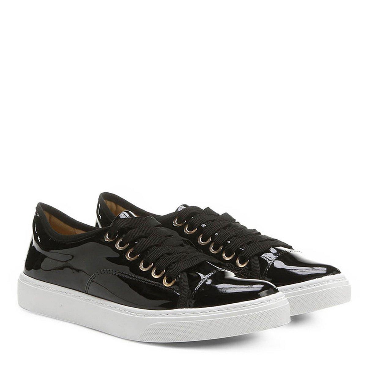 56b6a8bdd93 Tênis Shoestock Verniz - Preto - Compre Agora