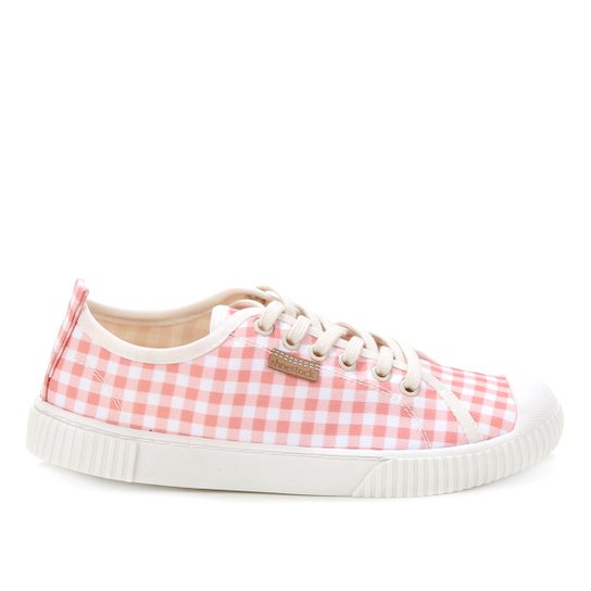 Tênis Shoestock Xadrez Vichy Feminino - Rosa